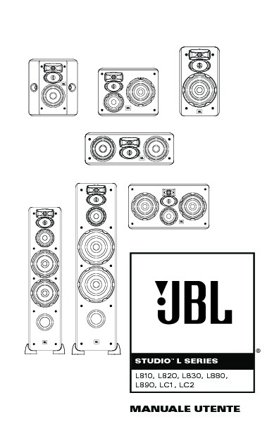JBL LC2 (SERV.MAN9) User Guide / Operation Manual — View