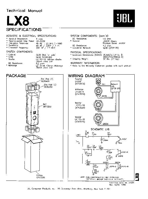 JBL LX 8 Service Manual — View online or Download repair