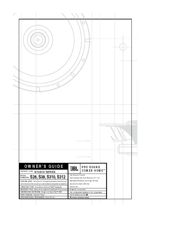 JBL STUDIO 590 Service Manual — View online or Download