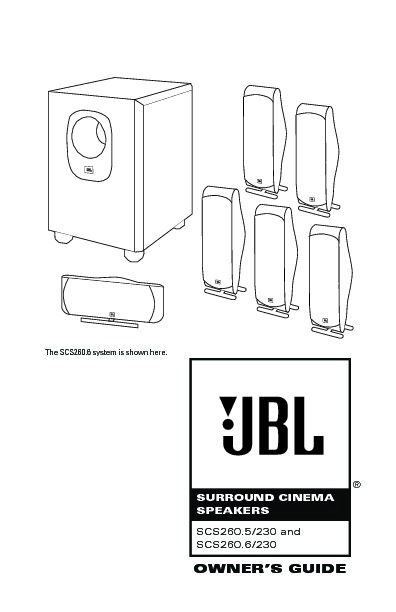 JBL SCS 260 (SERV.MAN3) User Guide / Operation Manual