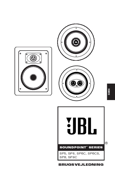 JBL SP 5 User Guide / Operation Manual — View online or