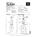 JBL TLX 181 Service Manual — View online or Download