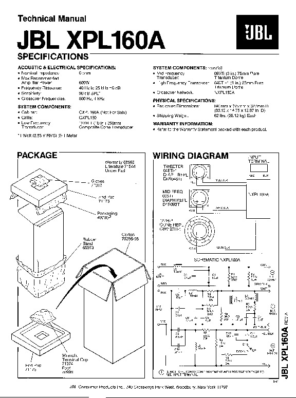 JBL XPL 160A Service Manual — View online or Download