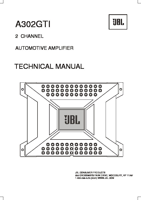 JBL A302GTI (SERV.MAN2) Service Manual — View online or