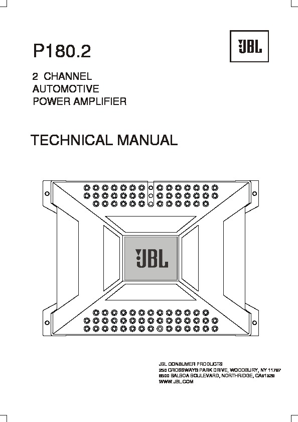 JBL P 180.2 (SERV.MAN3) Service Manual — View online or