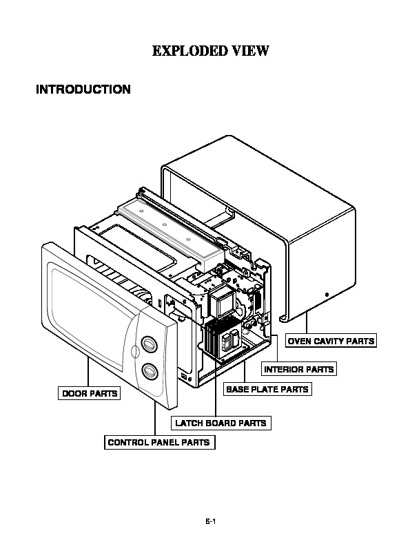 Lg Microwave Oven Service Manuals and Schematics — repair