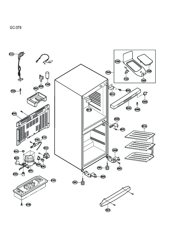 Lg Refrigerator Service Manuals and Schematics — repair