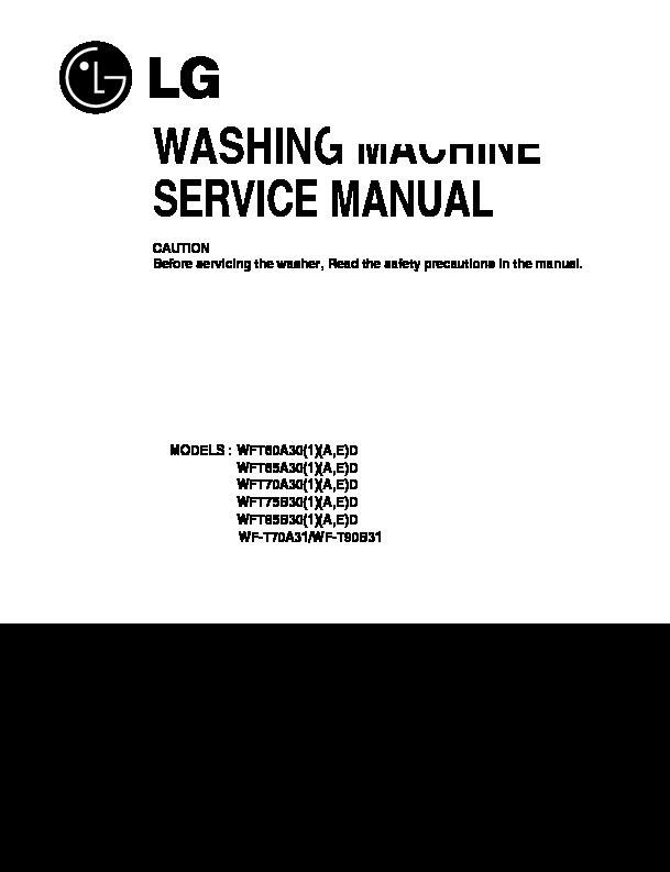 LG WF-T90B31 Service Manual — View online or Download