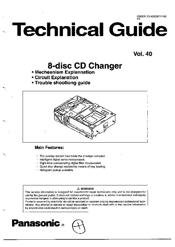 Panasonic 8-DISC CD CHANGER Other Service Manuals — View