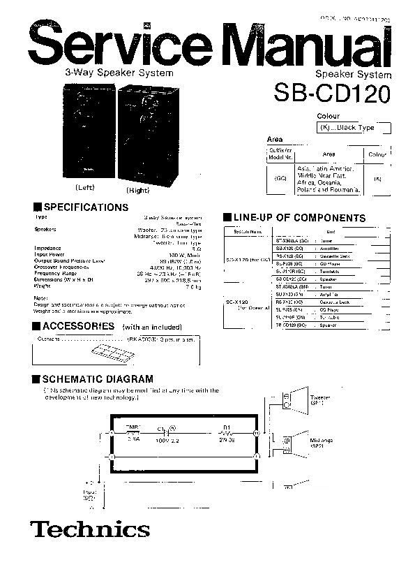 Panasonic SB-CD120GC Service Manual — View online or