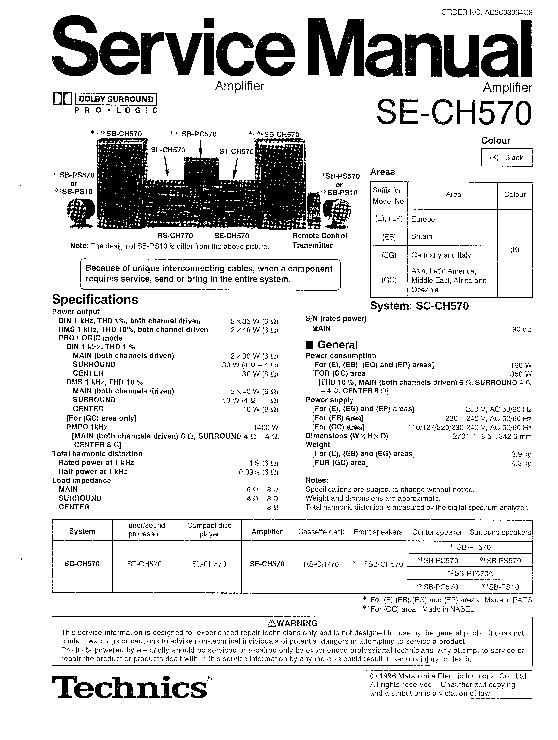 Panasonic SE-CH570EEBEGEP Service Manual — View online or