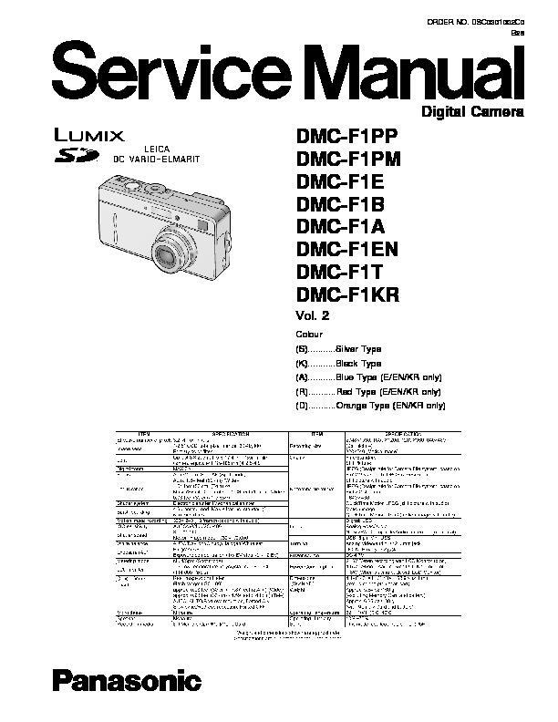 Panasonic Dv Dsc Service Manuals and Schematics — repair