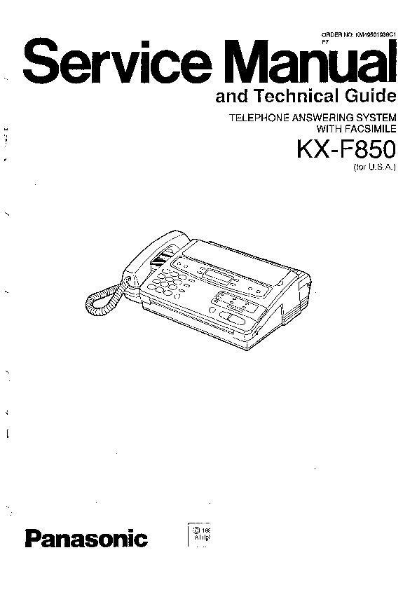 Panasonic KX-F800, KX-F850, KX-F1200, KX-F1600, KX-F1600C