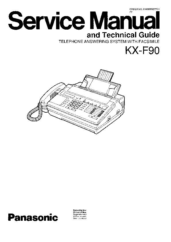 Panasonic KX-F90 Service Manual — View online or Download