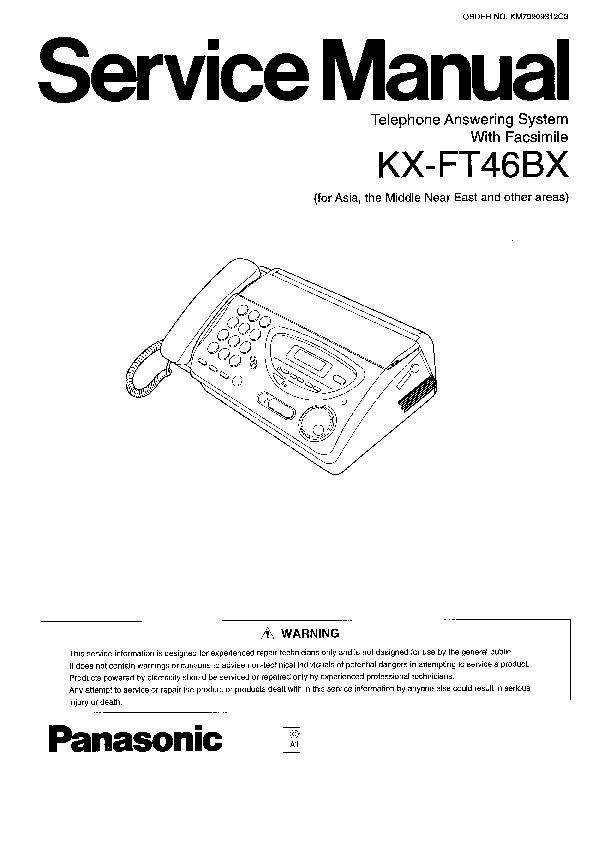 Panasonic KX-FT33, KX-FT35, KX-FT37, KX-FT42BX, KX-FT46BX