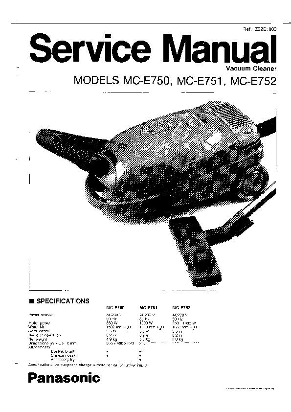 Panasonic MC-E750, MC-E751, MC-E752 Service Manual — View