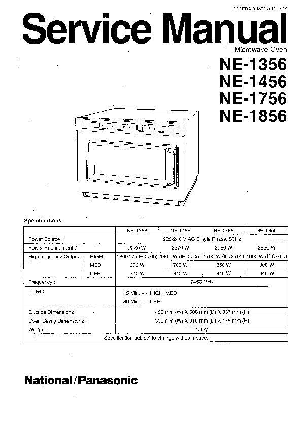 Panasonic NE-1446, NE-1456, NE-1846, NE-1856 Service