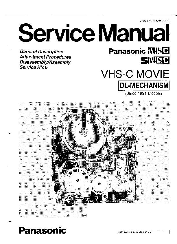 Panasonic Movie Service Manuals and Schematics — repair