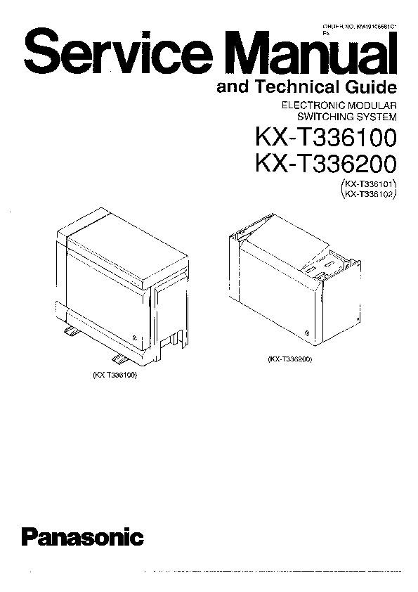 Panasonic KX-T336100, KX-336200 Service Manual — View