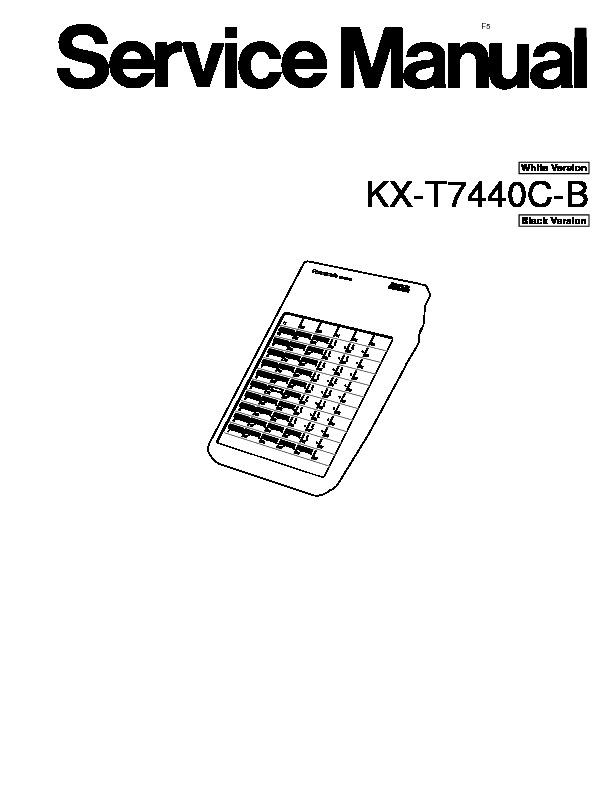Panasonic KX-T7440CB, KX-T7440C Service Manual — View