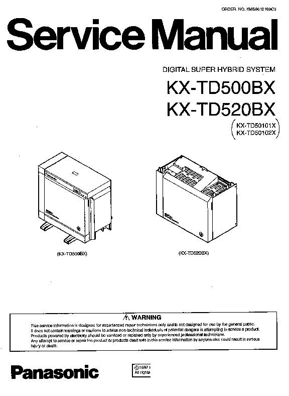 Panasonic KX-TD500 Other Service Manuals — View online or