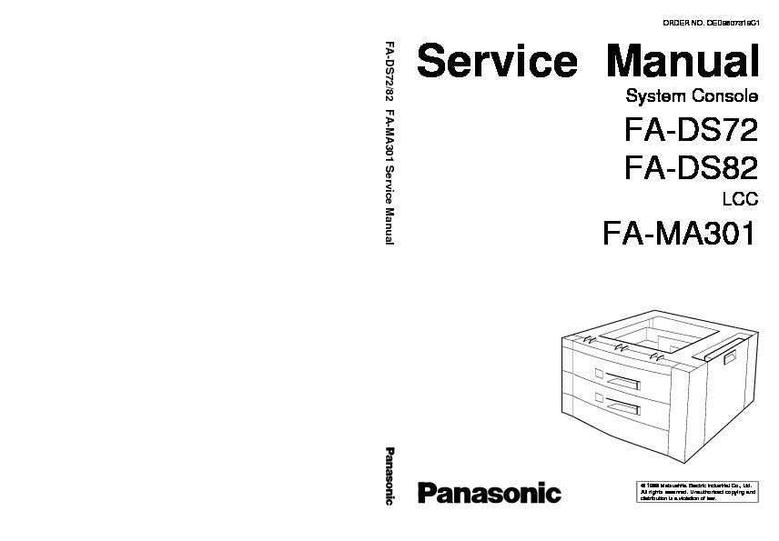 Panasonic FP-7818, FP-7824, FP-7830, FP-7835, FP-7845, FP