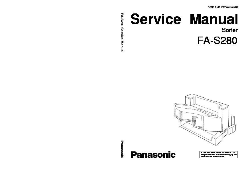 Panasonic FP-7718, FP-7722, FP-7728, FP-7735, FA-S280, FA