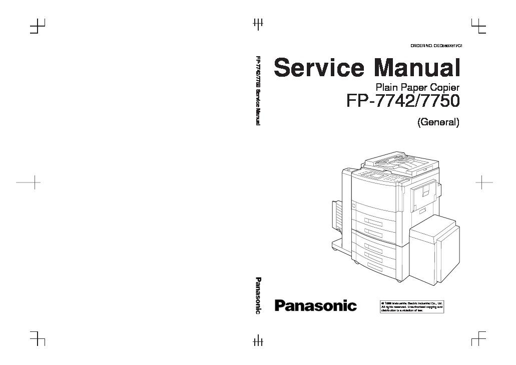 Panasonic FP-7742, FP-7750 (SERV.MAN2) Service Manual