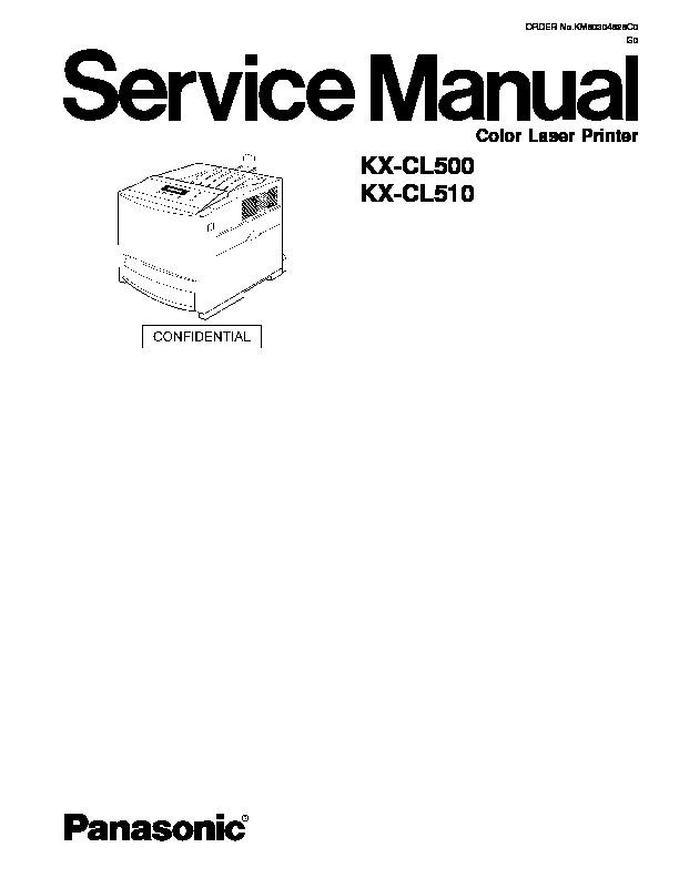 Panasonic Printer Service Manuals and Schematics — repair