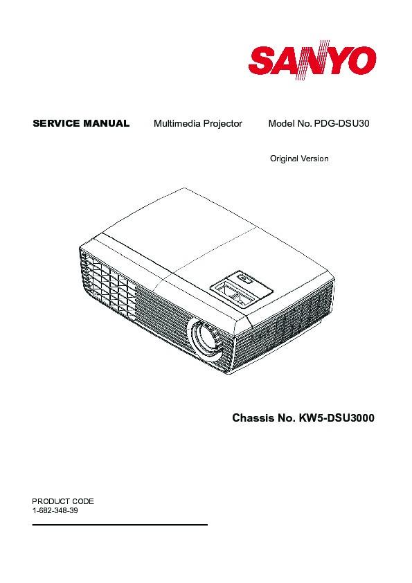 Panasonic PDG-DSU30 Service Manual — View online or