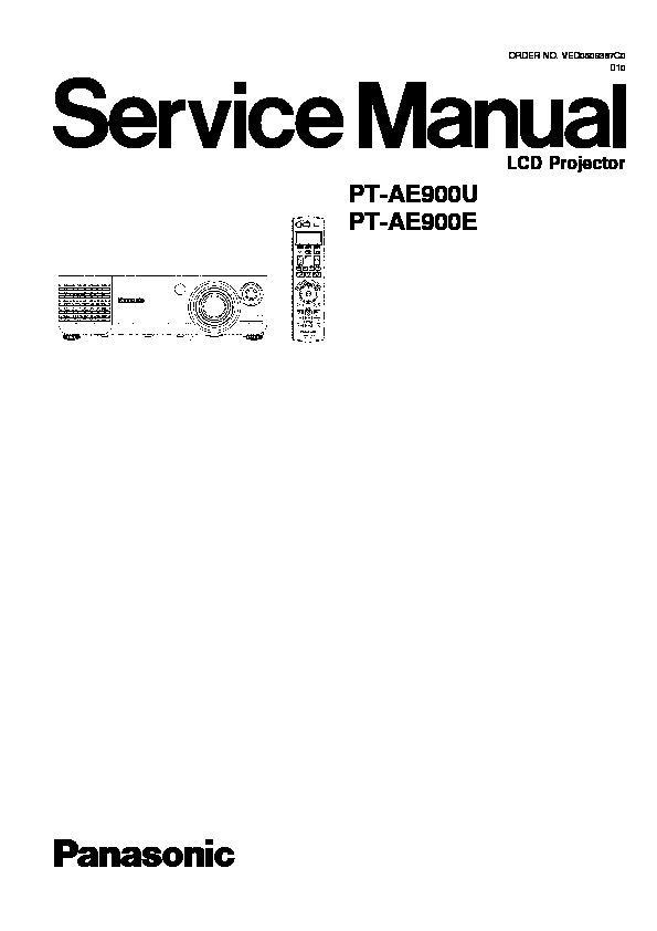Panasonic PT-AE900U, PT-AE900E, PT-AX100U, PT-AX100E, PT