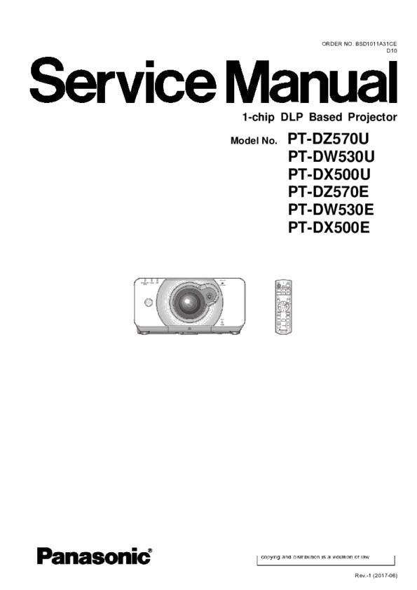 Panasonic PT-DZ570U, PT-DZ570E, PT-DW530U, PT-DW530E, PT