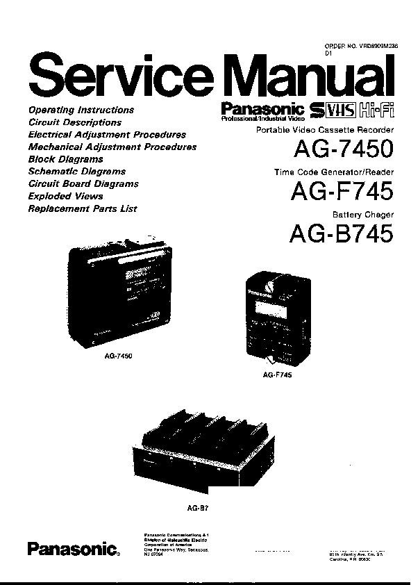 Panasonic Provideo Service Manuals and Schematics — repair