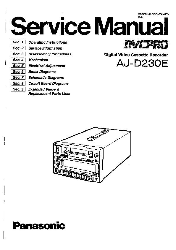 Panasonic AJ-D230E Service Manual — View online or