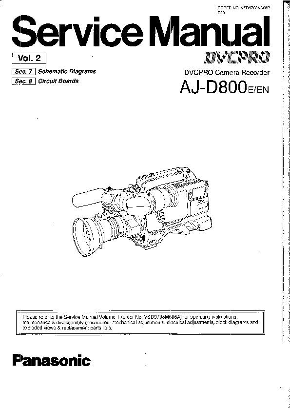 Panasonic AJ-D800E, AJ-D800EN Service Manual — View online