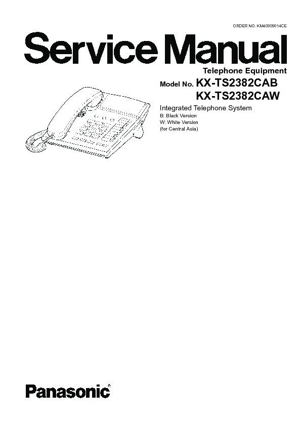 Panasonic KX-TS2382CAB, KX-TS2382CAW Service Manual — View