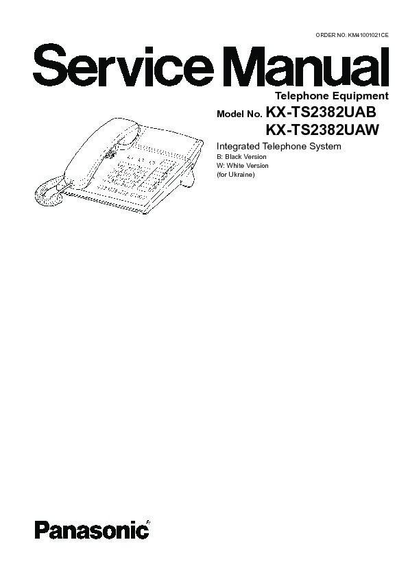 Panasonic KX-TS2382CAB, KX-TS2382CAW, KX-TS2382RUB, KX