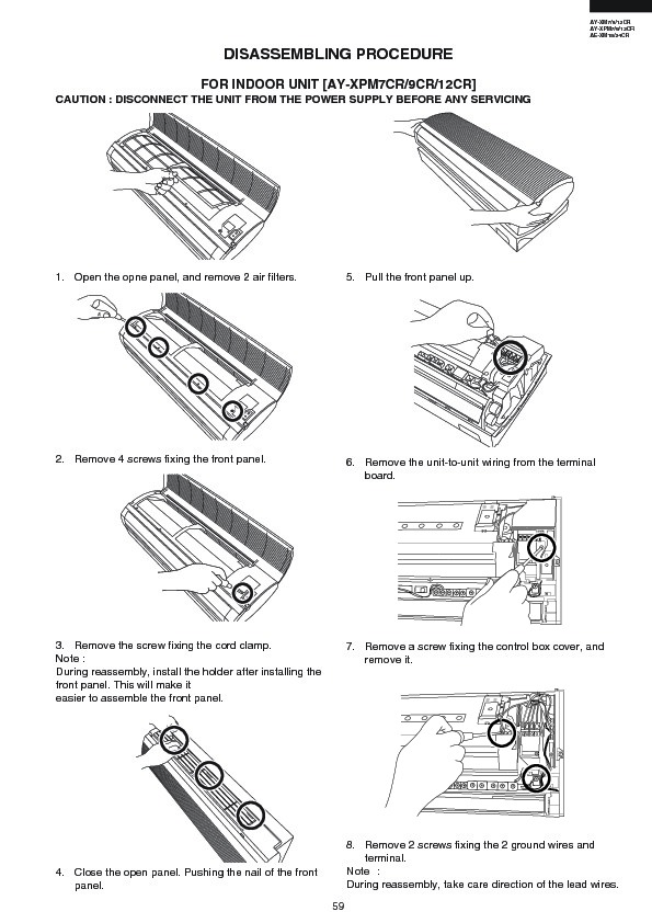 Sharp AE-XM24CR (SERV.MAN5) Service Manual — View online