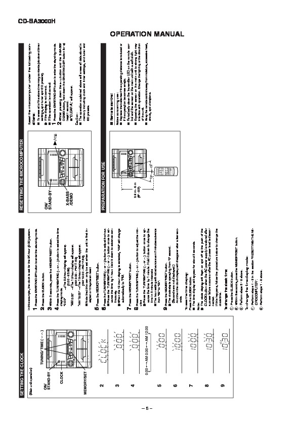 Sharp CD-BA3000 User Guide / Operation Manual — View