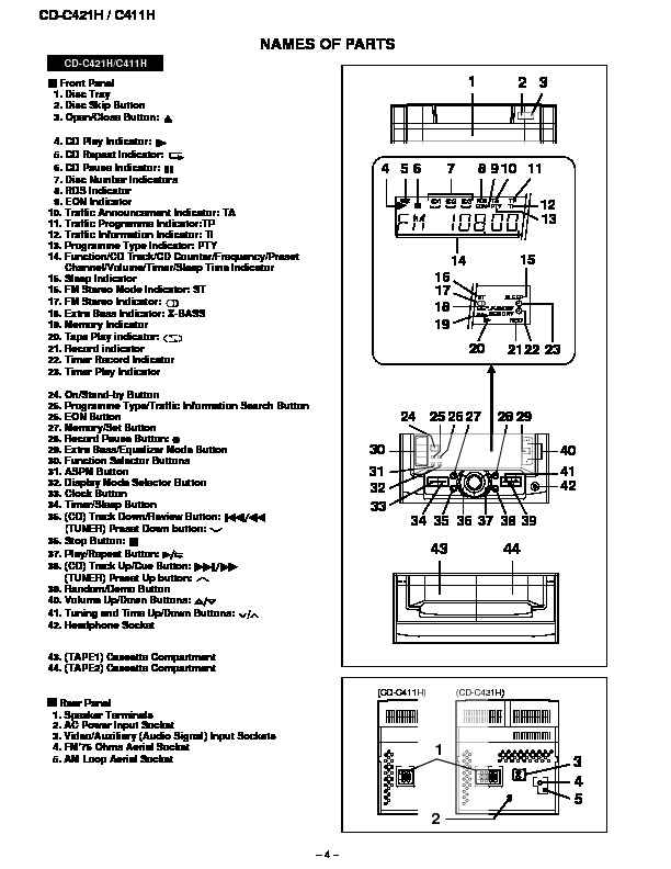 Sharp CD-C411H (SERV.MAN10) Service Manual — View online