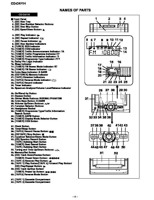 Sharp CD-C471H (SERV.MAN11) Service Manual — View online