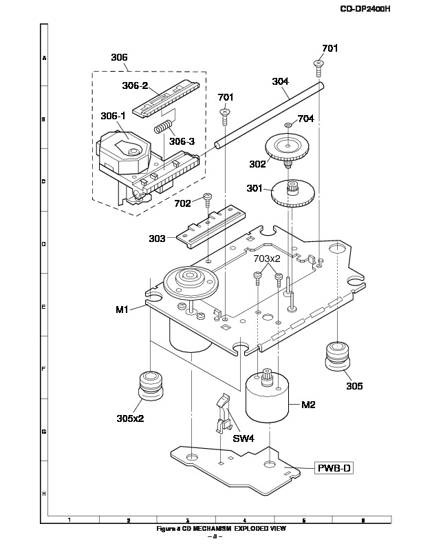 Sharp CD-DP2400H (SERV.MAN2) Parts Guide — View online or