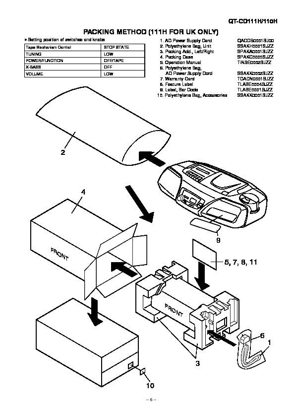 Sharp QT-CD110H (SERV.MAN12) Service Manual — View online