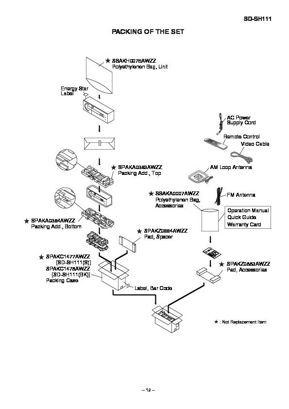 Sharp SD-SH111 (SERV.MAN12) Service Manual — View online