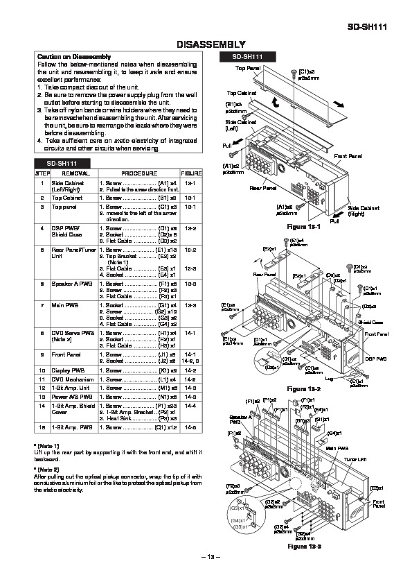 Sharp SD-SH111 (SERV.MAN12) Service Manual — View online