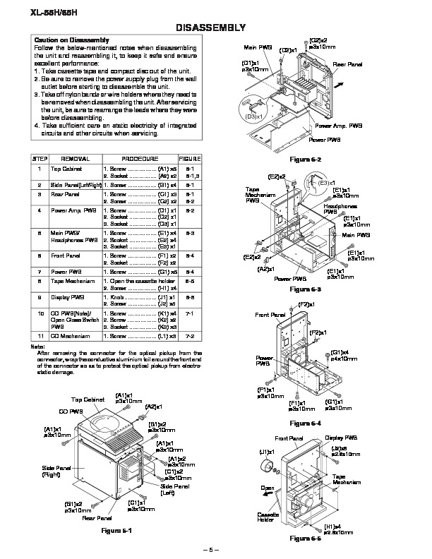 Sharp XL-65H (SERV.MAN7) Service Manual — View online or