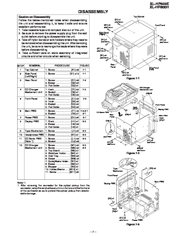 Sharp XL-HP500 (SERV.MAN7) Service Manual — View online or
