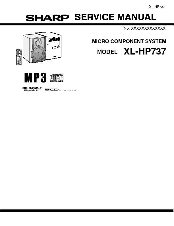 Sharp XL-HP737 User Guide / Operation Manual — View online