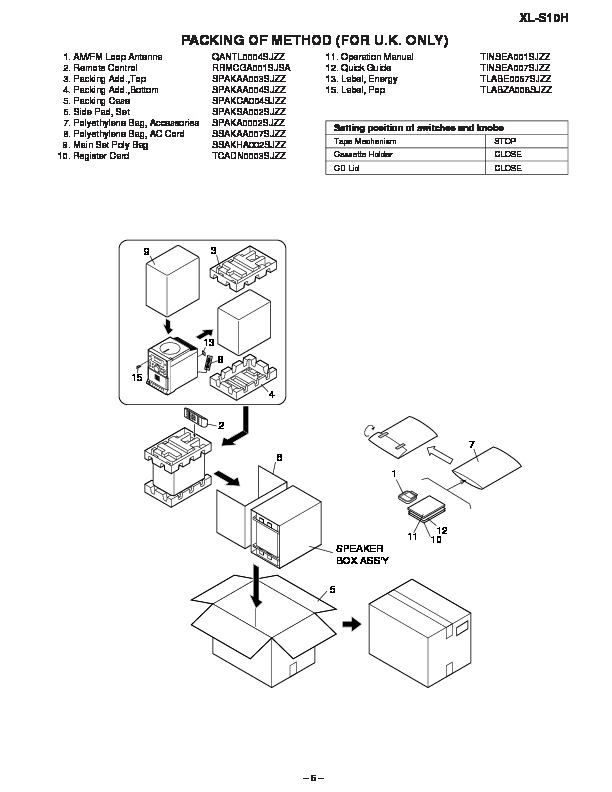 Sharp XL-S10H (SERV.MAN5) Service Manual — View online or