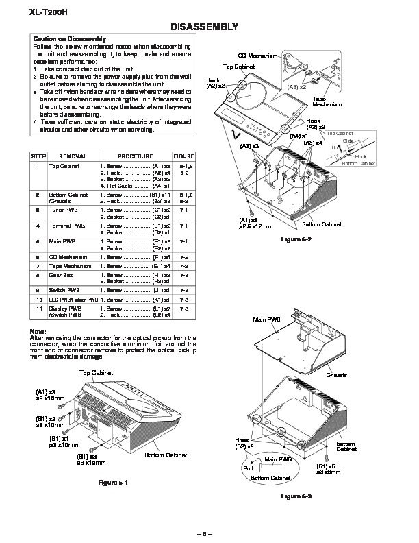 Sharp XL-T200 (SERV.MAN15) Service Manual — View online or